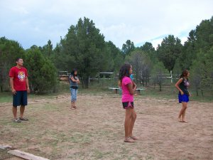 Zuni girls getting intense in volleyball
